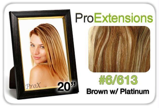 Pro Lace 20″, #6-613 Chestnut Brown w-Platinum Highlights
