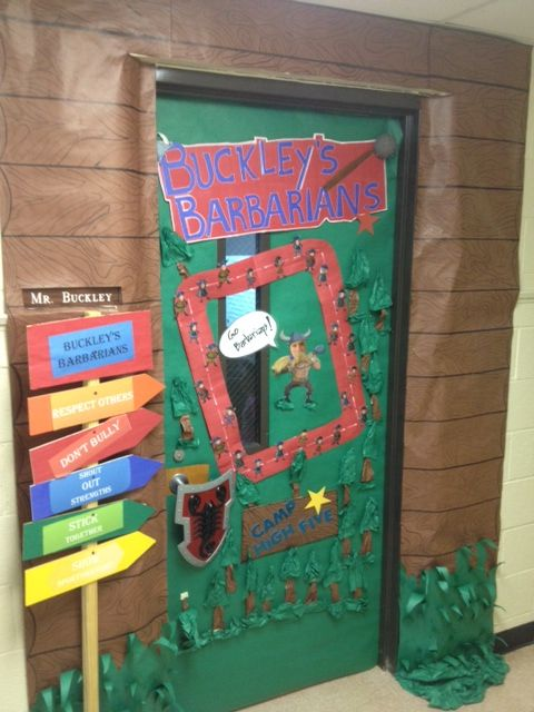 Classroom Decoration Wall ~ This is an amazing camp high five door decoration from