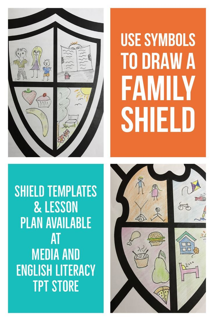 Design a family shield using symbols. This activity assists students to experiment with familiar and unfamiliar signs and symbols.  Lesson plan included.  https://www.teacherspayteachers.com/Product/DESIGN-A-FAMILY-SHIELD-MEDIA-LITERACY-SIGNS-SYMBOLS-3110347