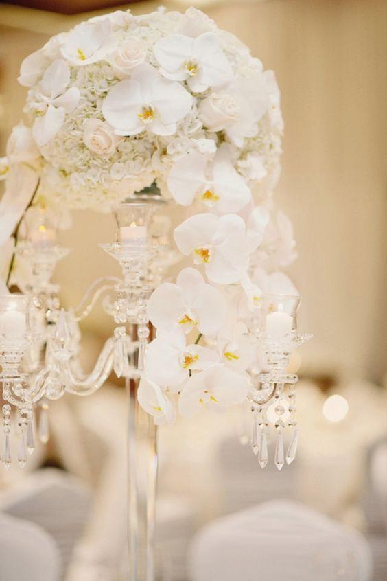 photographer: Vasia Photography; Wedding reception centerpiece idea