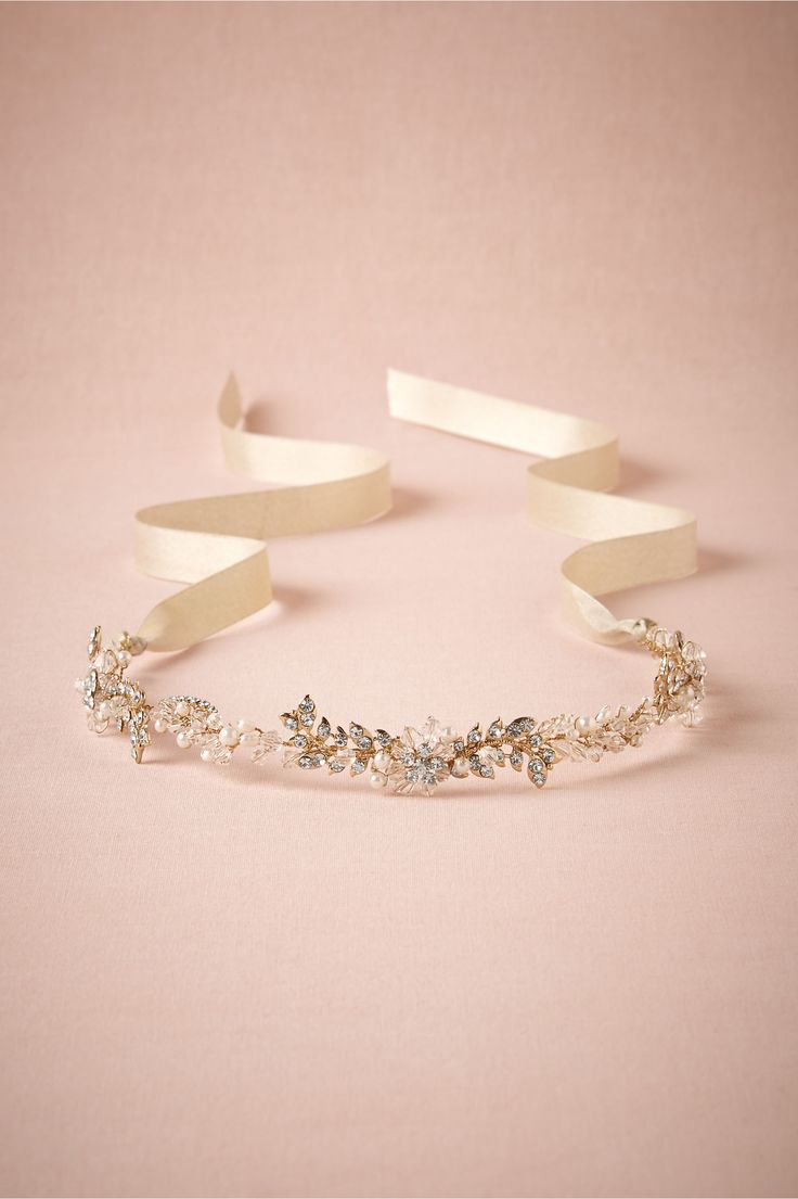 Pearl-Petal Halo in Bride Veils & Headpieces Halos & Headbands at BHLDN