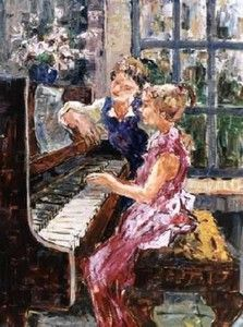 """Piano Lesson"" I want this piece of art!! So perfect for above my own piano! I love it!!"