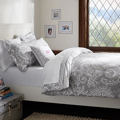 Natalia Duvet Cover + Sham, Light Grey Not A Teen But I Want This! Find  This Pin And More On Pottery Barn Bedding ... Part 62