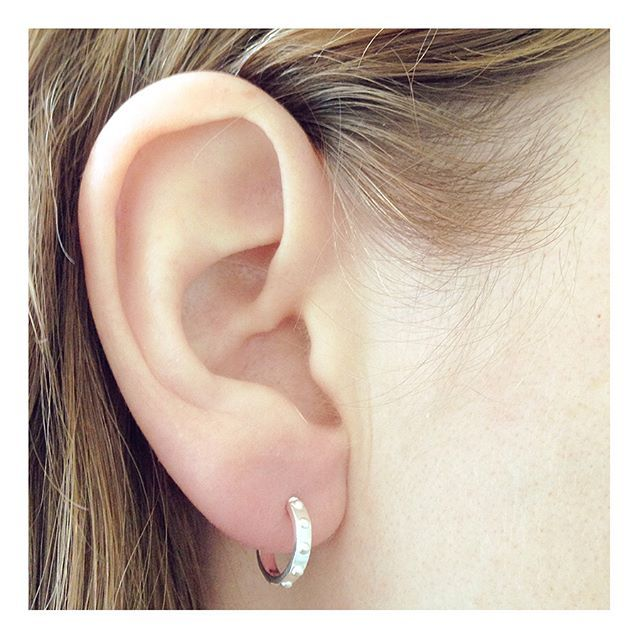 A twist on the classic hoop adding a little rock to your outfit. #hoopearrings #silverearrings #finejewellery Shop now by following the link in bio or check out the full range at correyandlyon.com  #Regram via @correyandlyonjewellery