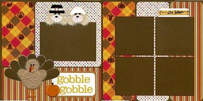 Scrapbooking for Others: THANKSGIVING TEAR BEAR ALREADY MADE PAGES