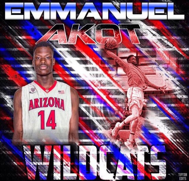 Emmanuel Akot Commits to NCAA D1 Arizona Wildcats for 2018-19 Season    Winnipeg native Emmanuel Akot has made the announcement that he is committing to the Arizona Wildcatsof the Pac-12 Conference for the 2018-19 NCAA season. Arizona is one of the top men's basketball program in the US currently sitting at #7 in the national rankings heading into March Madness and will be a tournament favourite. Emman made the decision public on his Twitter account earlier today including the comment…