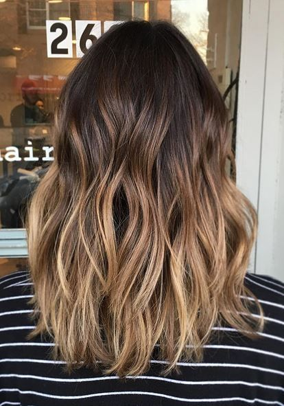 Obsessed with the color melt! Darken that base and let those sunkissed ends shine! Color by Ashley Glazer.  Filed under: Hair Color, Hair Styles, Hair Stylists Tagged: balayage, beauty, bronde, COLOR #Ombrehair