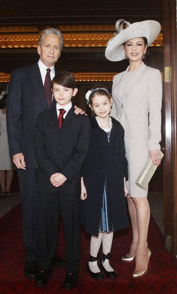 Michael Douglas and Catherine Zeta-Jones with children Dylan Michael and Carys Zeta
