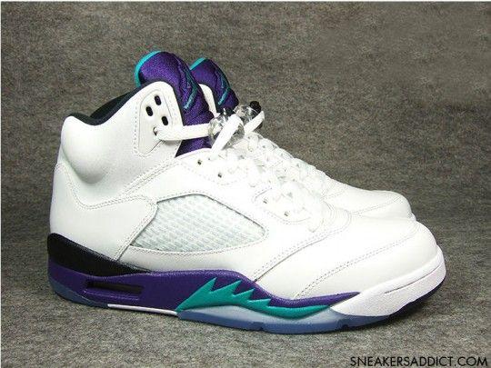 Women Jordan Shoes -jordan shoes for women Women Air Jordan 5 Grape  Authentic [Women Air Jordan 5 - We offer you these Air Jordan 5 Grape shoes  with women ...