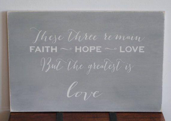 Questi tre rimangono fede speranza amore segno di wordsignsdecor #integritytt