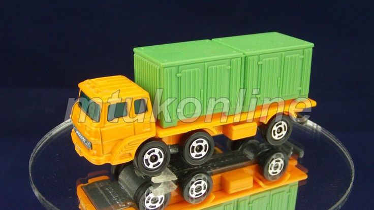 TOMICA 090A FUSO CONTAINER TRANSPORTER | 1/127 | JAPAN | 090A-5 | A-SHAPE | 730