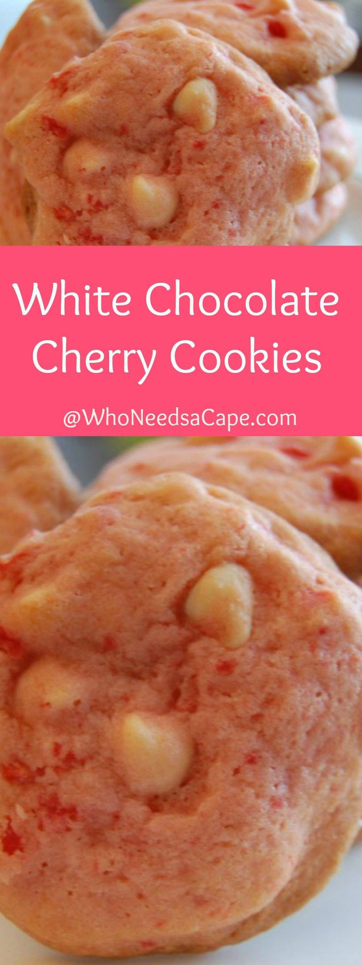 White Chocolate Cherry Cookies are the perfect sweet dessert treat for Valentine's Day! With cherries and white chocolate this is one tasty cookie.
