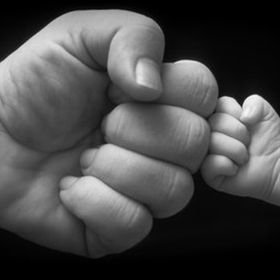 Fist bump, Father  Son  Wish I had thought of this.  So cute. - Click image to find more Kids Pinterest pins