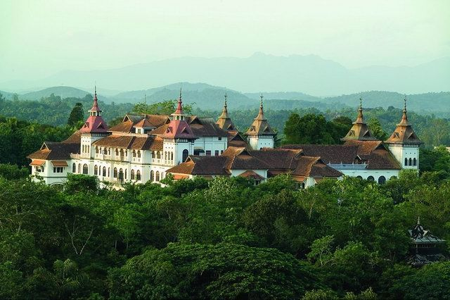 The residence of the Maharajah of Travancore; Wikipedia