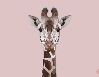 """Check out new work on my @Behance portfolio: """"Low Poly Giraffe"""" http://be.net/gallery/43390101/Low-Poly-Giraffe"""