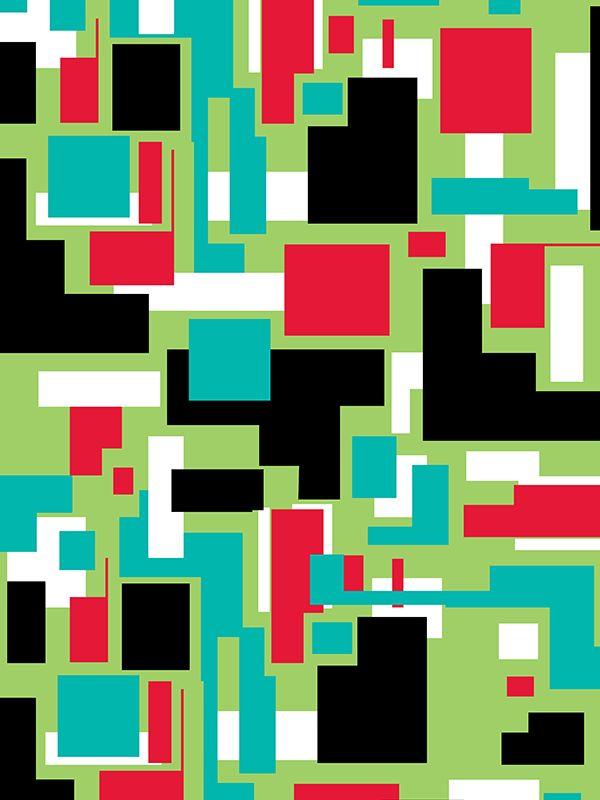 Pixels by Margaret Perez (Geometric Illustrations, Print & Pattern)  See more at www.margaretperez.com #margaretperez #illustrations #printpattern #graphic #pixels #geometric #fashion