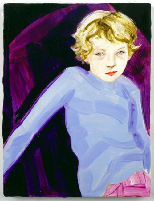 Elizabeth Peyton, Max, 1996, Oil on board, 12 x 9, Private collection, Gavin Brown's enterprise, New York, Max Brown, son of Gavin Brown, gallerist.