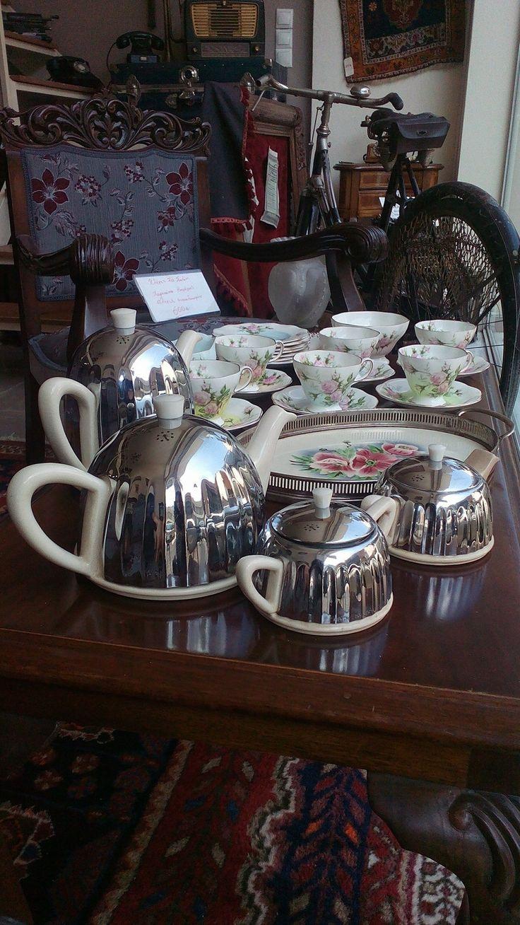 Art deco English Ever Hot cerca 1920-1930 tea set