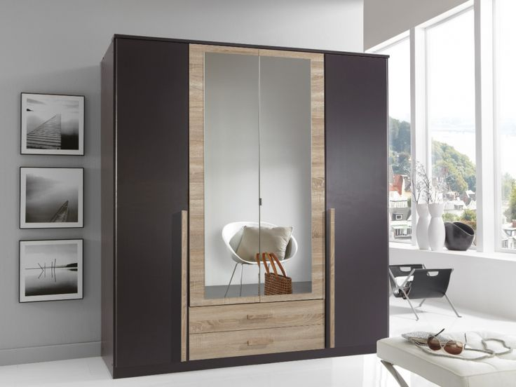 Dreht renschrank air kleiderschrank 180 cm 4 t rig lavagrau eiche s gerau schlafzimmer - Kleiderschrank air ...