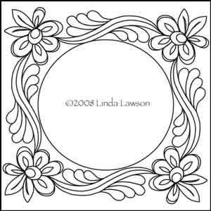 Flowers in the Vine Square Wreath   Digitized Quilting Patterns
