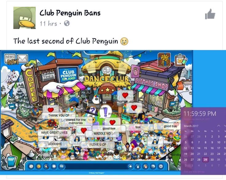 IM REALLY IPSET CAUSE I JUST FOUND OUT THAT THEY ENDED CP. REST IN PEACE CLUB PENGUIN, THANKS FOR THE MEMORIES
