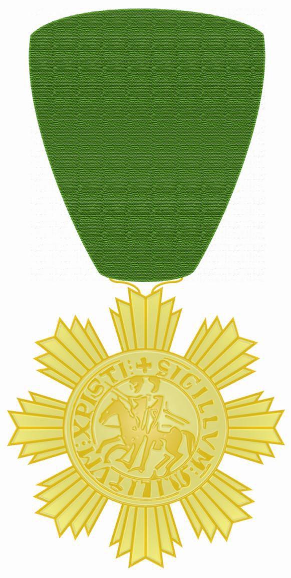 """Propuesta de Medalla """"Corazón de Caballero"""". También fue adoptada a nivel nacional."""