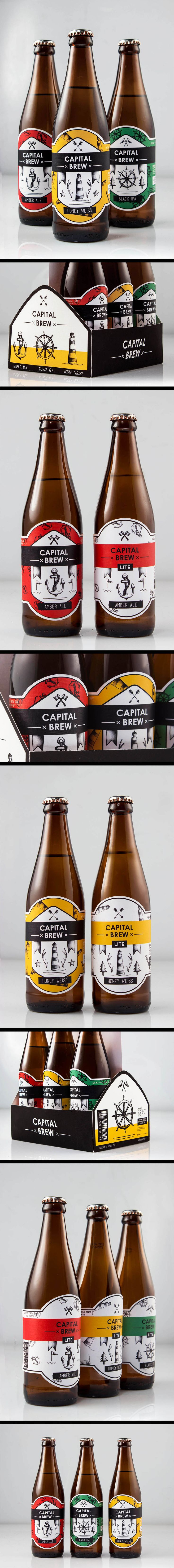 A student project that deals with #packaging and #branding for a #craft #beer #adventure #primary #colours #lbeerlabels #labels #icons #monochrome #lighthouse #anchor #patterns #bulk #packaging