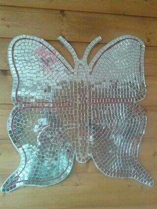 Butterflymirror #butterfly #vlinder #mirror #spiegel #spiegeltjes #discobal #diy