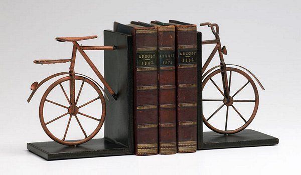 #Bicycle book ends
