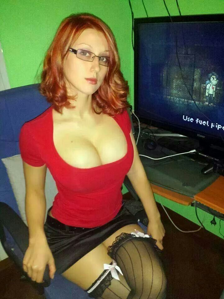 Busty red heads with glasses-3320