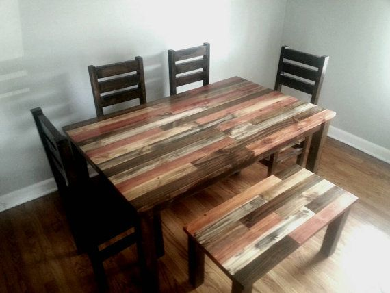 Rustic Dining Table / Dining Room Table / by AlexFurniture1