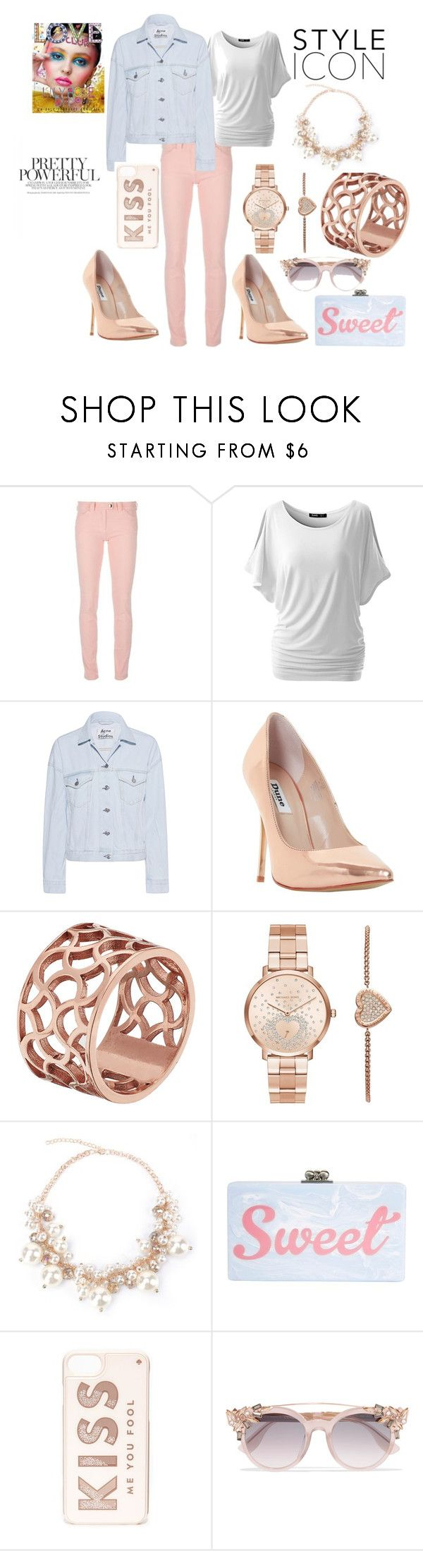 """Casual Date Night- Spring/Summer 2017"" by ladylmmoore ❤ liked on Polyvore featuring Balenciaga, Acne Studios, Dune, Tartesia, Michael Kors, Edie Parker, Kate Spade and Jimmy Choo"