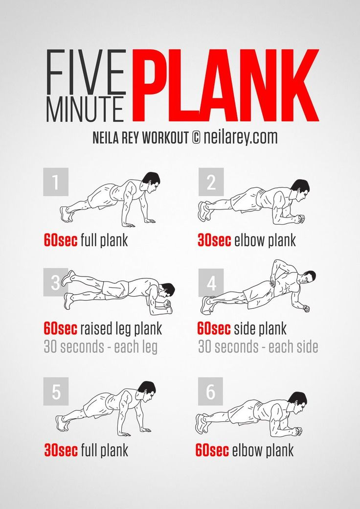 Five Minute Plank Workout - I like these to do at home or on my lunch using my phone to time myself. It's helpful.