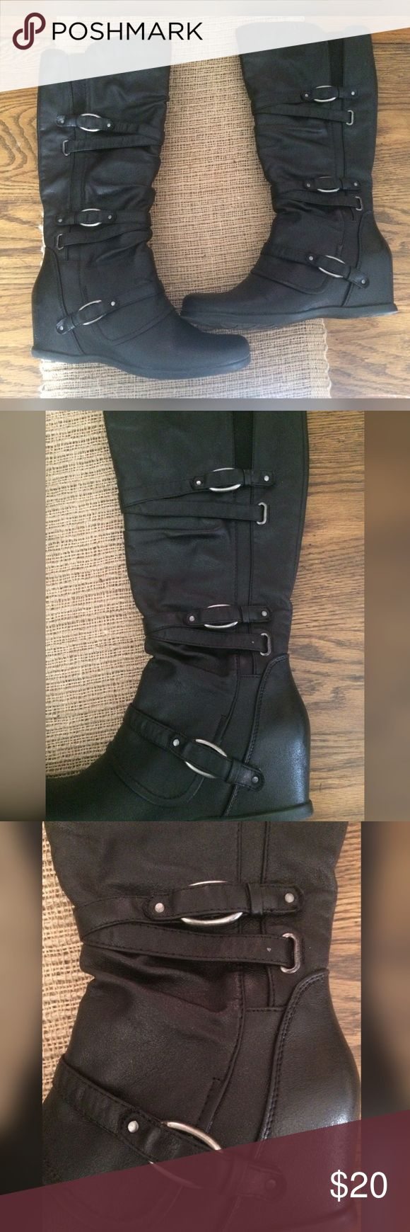 Brown Riding Boots Size 13 Girls