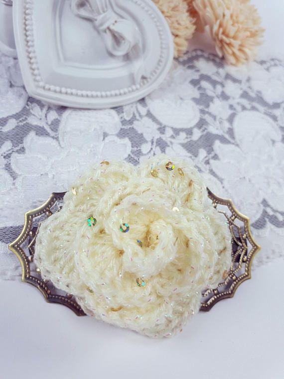 #barrette #ivorybarrette #ivoryjewelry #bridalbarrette #hairjewelry #hairaccessory by Rocreanique on Etsy