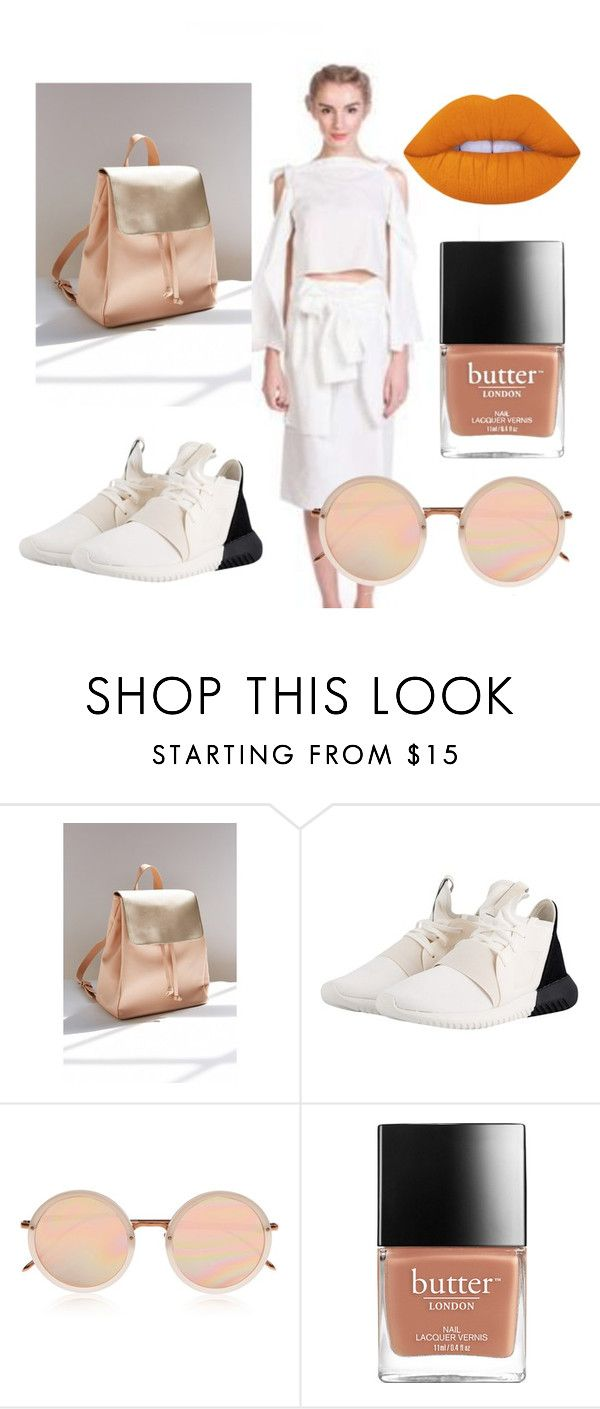 hei orange by katkat-cdlii on Polyvore featuring adidas Originals, Silence + Noise, Linda Farrow and Lime Crime