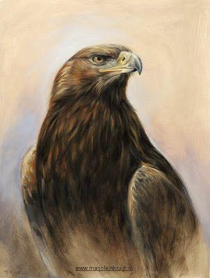 steenarend schilderij golden eagle painting