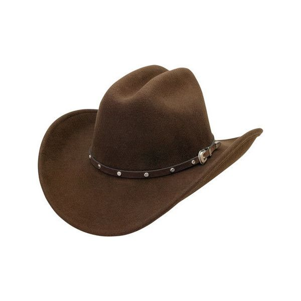 Men's Silverado Blake - Brown Cowboy Hats (265 BRL) ❤ liked on Polyvore featuring men's fashion, men's accessories, men's hats and brown