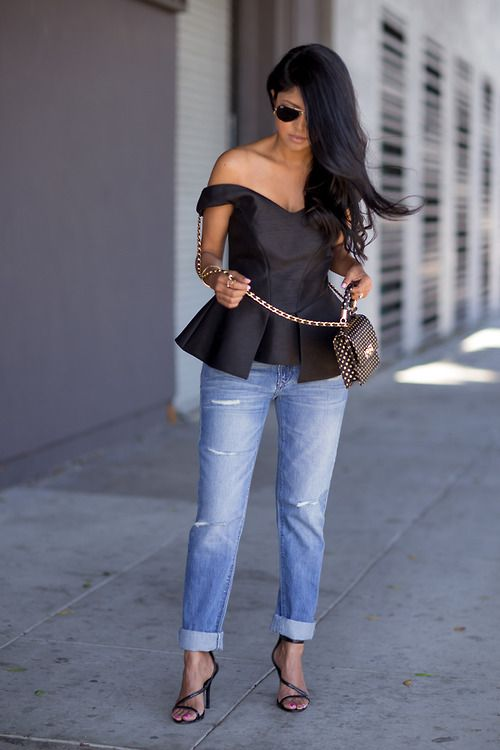 Off-The-Shoulder Tops Are Having a Moment: 22 Outfits That ProveIt | StyleCaster