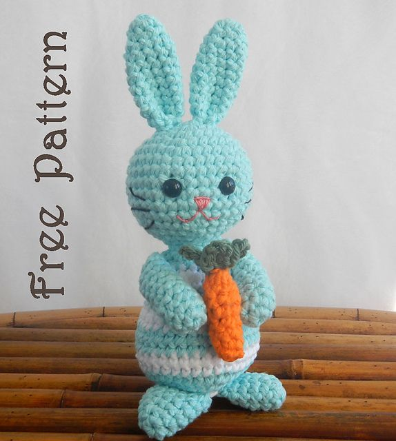 Pinky The Rabbit Amigurumi Crochet Pattern : Free Ravelry Download. Ravelry: Amigurumi Bunny: Martin ...