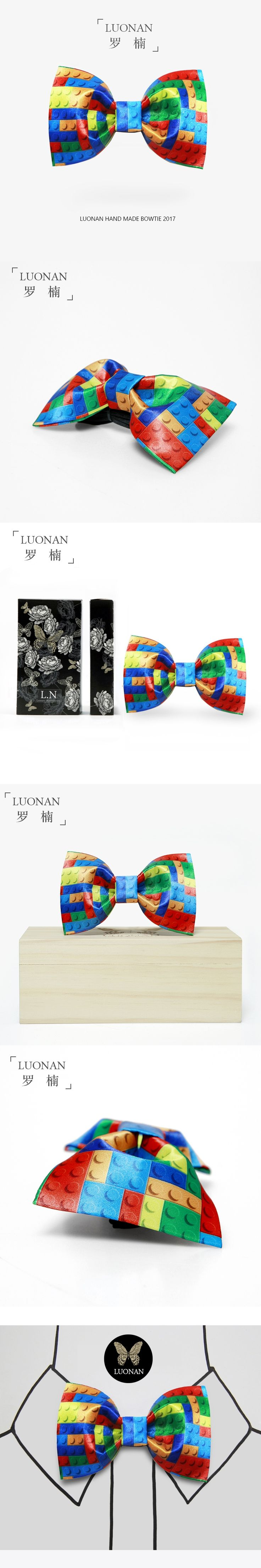 Bow tie male color building block printing cute party party innocence personality bowler boxed