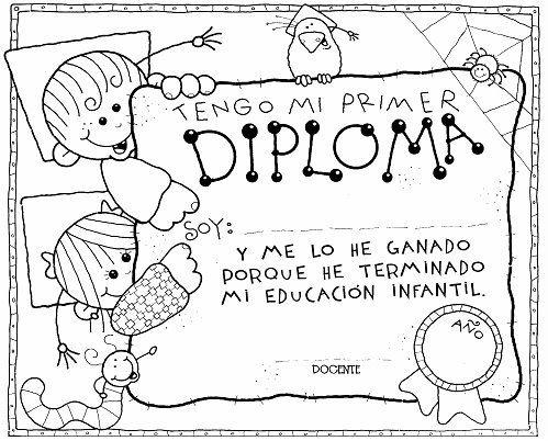 diplomas para niños para colorear - Buscar con Google ...