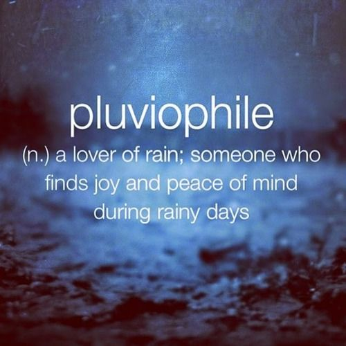 Pluviophile... (n.) a lover of rain; someone who finds joy and peace of mind on rainy days #rain #pluviophile