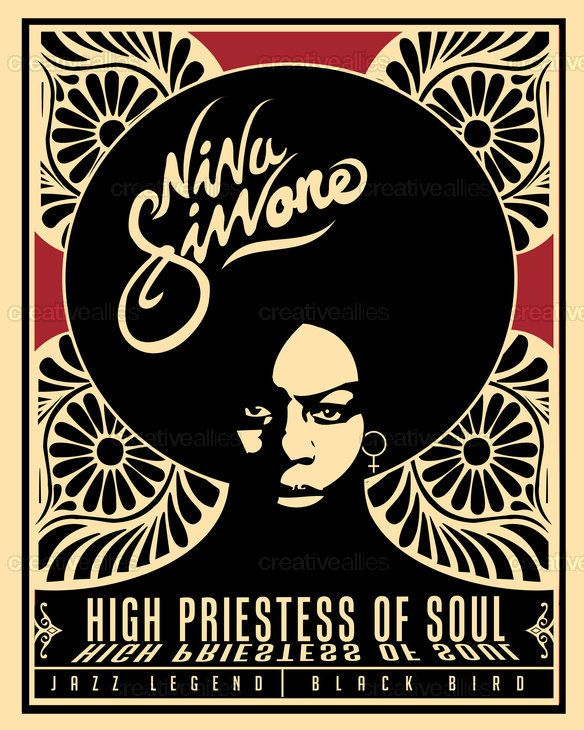 Nina Simone Poster by Lorenzo Belmonte on CreativeAllies.com