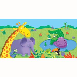 20725945 - Jungle Buddies Tablecover Jungle Buddies Tablecover, Plastic (135cm x 270cm). Please note: approx. 14 day delivery time.
