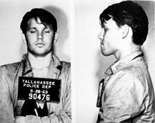 Jim Morrison 1963 mugshot~arrested inTallahassee drunk after pulling a prank at a football game