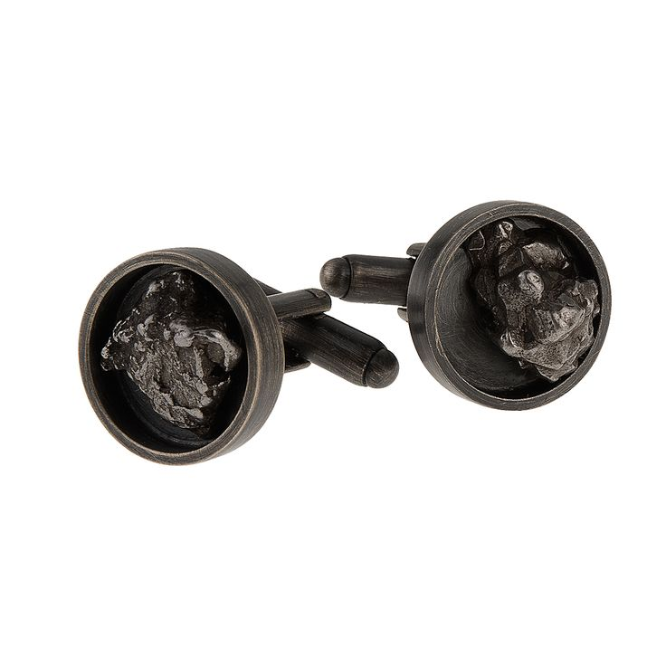 Cufflinks from METEORITE collection by Anna Orska.