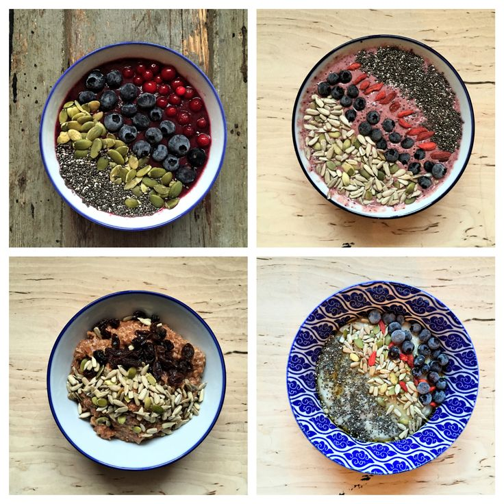 Healthy Breakfast Options from www.unionoffood.com #Smoothiebowl and #porridge