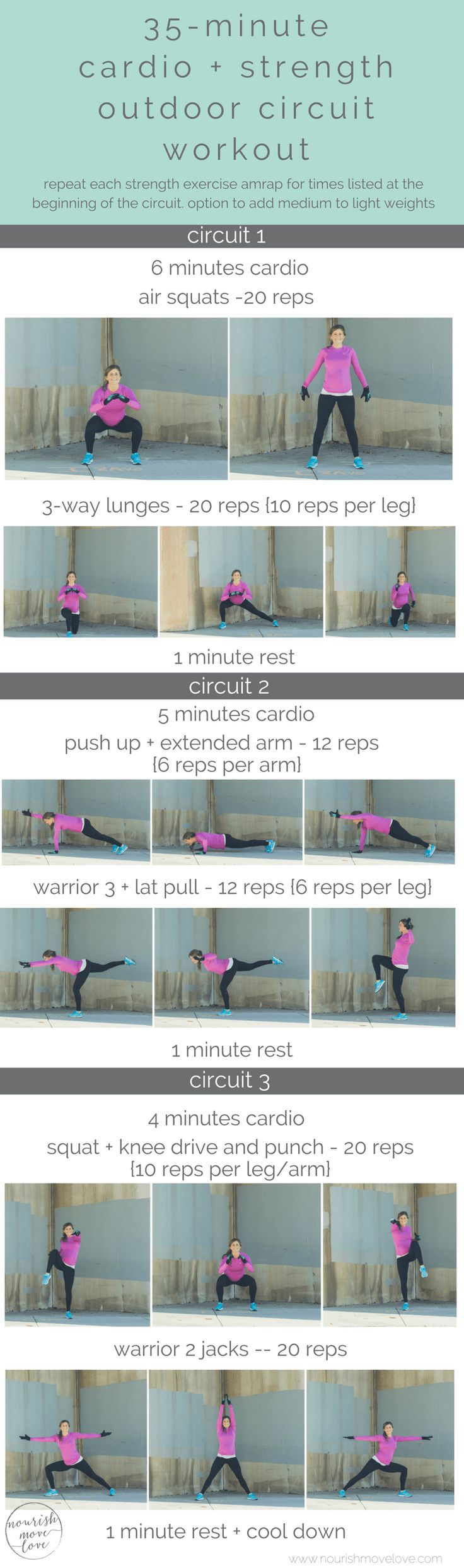 outdoor 35-minute cardio and strength circuit workout   nourishmovelove.com