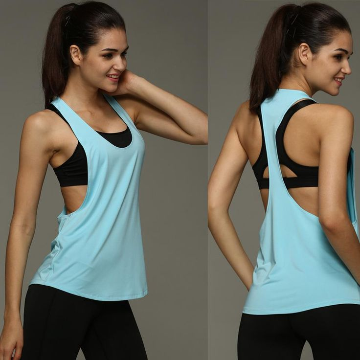 Tanks Camis  8 Colors Summer Sexy Women's Tank Tops Quick Drying Loose Brethable Fitness Sleeveless Vest Workout Top Exercise T-shirt 1033 -- This is an AliExpress affiliate pin.  Locate the offer on AliExpress website simply by clicking the VISIT button